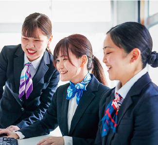 生活創造学科 ビジネス・医療秘書コース 教育方針イメージ