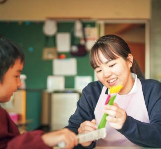 幼児教育学科 教育方針 子どもたちとのふれあいイメージ